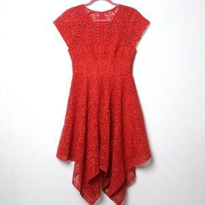 Maeve | Burnt Orange Lace Dress 2